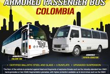 Armored/Bulletproof Bus Colombia / Armored Bulletproof Bus Colombia-MSPV Armored Bulletproof Bus provides protection for passengers, usually against small arms and improvised explosive.Our bus is the choice for many Security companies or other organizations operating in volatile environment. Our bullet-resistant buses are used by both private clients and governments around the globe.  Contact us at +971 4 425 1761 or draft emails on info@mspv.com or visit http://www.mspv.com