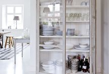 Kitchen & Pantry: Cottage & Farmhouse / Room decorating ideas from country to contemporary; resplendent with cupboards, hutches, cabinets, shelving, plate racks, storage, lighting, tiles, flooring, tables, chairs fit for your home, family breakfast or having the Queen to tea. Everything to get you dreaming, including a window to gaze out of at the kitchen sink. Inspiration for renovation, remodeling & updating your house's kitchen & pantry. Vintage (stoves!), traditional antique, rustic farmhouse, tiny apartment, clean minimal modern.