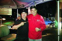 Celebridades Comparten con Dalilas Gourmet / Chef Julio Peña con Rubby Haddock en Evento de Luis Barrios - Miramar, Florida