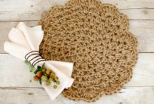Crochet coasters, placemat