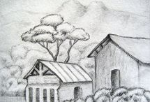 Landscape drawing