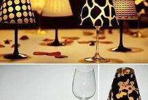 svítící skleničky