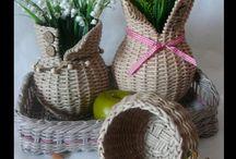 подносы,чашки,кувшины плетение