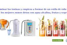 zumos detox / desintoxica tu cuerpo con una dieta de zumos detox hechos con agua alcalina  por 6 dias