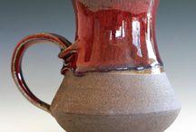 Pottery Mugs ideas / pottery mugs that I find inspirational. mugs, mug handles, coffee cups, pour overs, lattes, latte art, beautiful handles.