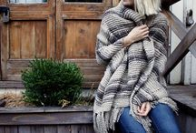 Knitted scarves and shawls