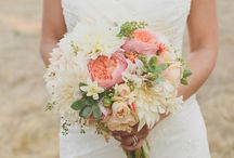 Gemma and Martin / Pinks, coral/peach, yellow, green and white - May 2014