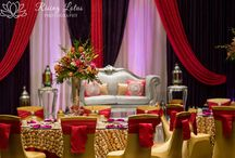 Sophistication & Royalty Inspiration Wedding Shoot by ACE / The reception décor displayed opulent elegance with a modern flair using purple and violet, fuchsia, and a mix of silver and gold www.AmazinglyCreativeEvents.com Décor captured by Rising Lotus Photography