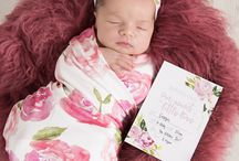 The Sunset Rose / Baby Milestone + Moments Collection by www.lovepaperink.com.au