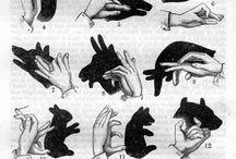 kéz árnyék