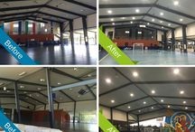 Commercial and Industrial / We can provide ideas and solutions for your next commercial or industrial project, including highbays, lowbays, flood lights and other suitable LED options.
