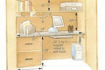 Home Office / Efficient use of space, cute ideas, fun work environment :) / by Jessie German