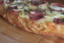 Pizzas no pão