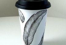 Coffee mug junkie / I love unique and fun coffee mugs :)