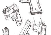 guns drawings