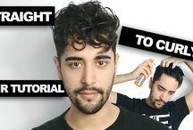 hair curly men tutorial