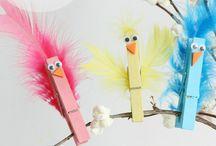 Clothespin crafts / prace z klamerek / clothespin crafts for kids / prace techniczne z klamerek dla dzieci
