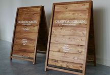 signboard (看板) / 家の表札をチョットclassicなお店の看板風にしてみようかなと思って集めてみました