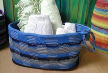 Kosz ze sznurka wooki-pooki kup na pl.dawanda.com/shop/Etno-ba-ba / #crochet #basket #handmade #cottoncord #wooki-pooki