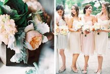 bridesmaid colour palettes / I love the idea of varied colours within the same colour palette to make up a bridal party. Would love to see some ideas of varied dress/ colour groupings for a bridal party