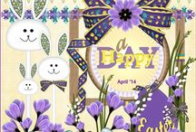 April '14 MP lo's van Ivy Scraps / hier al mijn mini pixel lo's gemaakt door alle Ivy Scrap designers