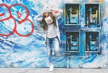 Street fashion photo shoot
