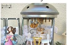 Mini Scenes in a Lantern / Cute doll houses, fairy gardens or other scenes you can build in a lantern