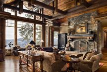 LOG HOMES / by Kathy Spears
