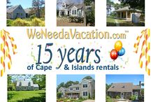 Happy Anniversary  / For 15 years, WeNeedAVacation.com has been helping vacationers find the perfect vacation rentals on Cape Cod, Nantucket and Martha's Vineyard. Let us help you plan your vacation to Cape Cod, Nantucket or Martha's Vineyard. / by WeNeedaVacation.com Cape Cod
