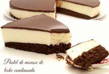 Pastel chocolate y Mousse de leche condensada