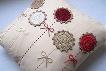 almohadones con tejidos