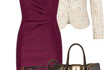 Šaty ruž, fial, červ a bordo
