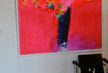 Modern flower acrylic paintings