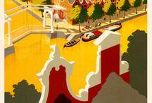 Travel vintage posters Holland & Belgian