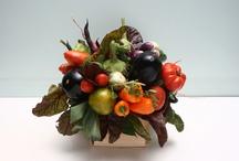 Букеты с овощами и фруктами