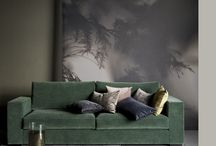 living room behind sofa