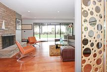 Midcentury houses / Beautiful examples of original and recreated midcentury style