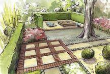 Дизайн сада (планы, скетчи, перспективы)