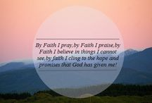 Lord give me faith to fall back on / by Leah Hammett