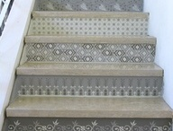 decorated interior concrete steps