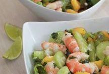 salade crevettes mangues