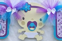 Turquoise and Purple Theme / Turquoise and purple theme baby shower