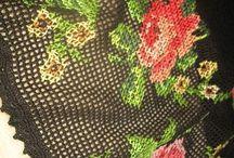 филейные платье с вышивкой крестом