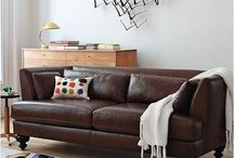 Leather sofas / Furnishing