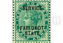 British India - Faridkot Official -Convention State / Story behind the Stamps of Faridkot Official