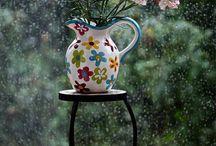 coffee tea book and rain