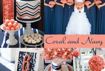 Coral and Navy Wedding Ideas