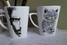 Painted ceramics - Wiecznie Bazgrająca