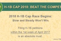H-1B Cap 2018 Filing Tips / Learn how you can increase the chances of H-1B Cap 2018 petition lottery selection and approvals with the tips.