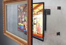 TV Frame & TV Mirror Installation / There are a variety of methods for installing our TV Mirrors, TV Art and TV Frames to conceal your television.